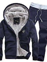 Men's Hooded Warm Fleece Suits