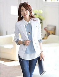 sarto coreano collare splicing colore dotato giacca manica lunga le donne 's