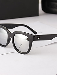 J&X Anti Uv Square Frame Classical Sunglasses(White)