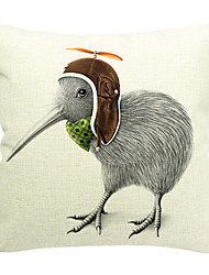 caricatura garota de algodão / linho fronha decorativo