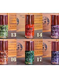 1шт блестки про-среды снежинка лак для ногтей no.12-18 (15мл, разных цветов)