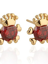 Women's Fashion Unique Design 18K Gold Zircon Earrings