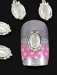 10pcs oval opal 3D DIY Legierung Zubehör Nagelkunstdekoration