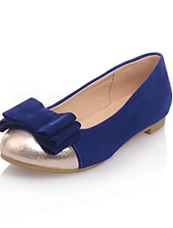 Women's Shoes Round Toe Comfort Flat Heel Suede Flats with Bowknot Shoes More Colors available
