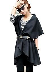 lapela das mulheres a atmosfera de lazer casaco grandes estaleiros outerwear