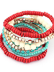 Wrap Bracelet Wooden Beads Strand Bracelet (Random Color)