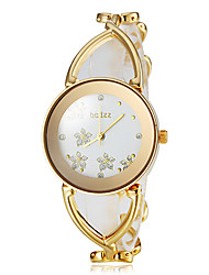 Women's Graceful Flower Pattern Dial Steel Band Bracelet Watch (Assorted Colors) Cool Watches Unique Watches
