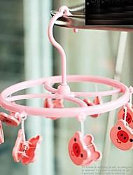 Cartoon Baby Children Kids Nursery Room Wooden Coat Clothes Hook Hanger (Random Color)