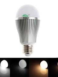 zweihnder e27 9w 850lm 2700-6500K 2.4GHz trasmissione rf lampadina led luce calda / bianca senza telecomando (ac 85-265v)