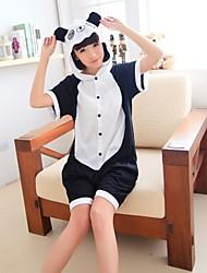 Unisex Vivid Panda Black & White Cotton Kigurumi pijama para o verão