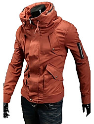Solid Color Slim Zipper Jacket