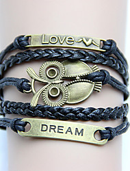 LOVE Women's Vintage Owl Dream Weave Bracelet