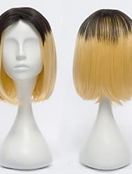 Haikyuu!Kozumekenma Gold and Black Gradient Cosplay Wig