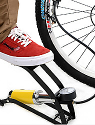 INBIKE Single Tube Steel Yellow High Pressure Portable Bike Foot Pump