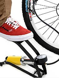INBIKE Single Tube Steel Yellow High Pressure Portable Bike Foot Pump