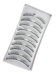 10 Eyelashes lash Eyelash Volumized / Natural Fiber