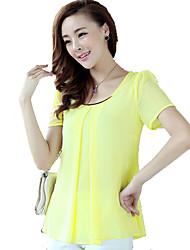 Korean Chiffon Slim Large Yard Short Sleeve Top