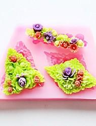 Blume Back Fondantkuchen Schokolade Süßigkeiten Schimmel, l8.7cm * w5.2cm * h1.1cm