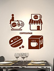 Wall Stickers Wall Decals, Modern Afternoon tea PVC Wall Stickers