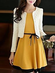 Women's New Fashion Elegant Cute Candy Color Slim Suits (Blazer&Mini Skirt)