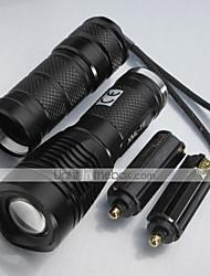 Lanternas LED / Lanternas de Mão LED 1000 Lumens 5 Modo XM-L2 T6 18650.0 / 26650Foco Ajustável / Recarregável / Resistente ao Impacto /