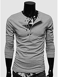 nono homens trespassado t-shirt de manga comprida