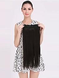 clip di capelli sintetici di vendita caldo di estensione dei capelli per la bella ragazza di 22 pollici nero