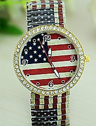 Women's Tower Leopard Printed Flag PU Quartz Watch (Assorted Colors)