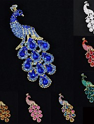 Fabulous Women Party Jewelry Rhinestone Peafowl Peacock Brooch Broach Pin (More Colors)