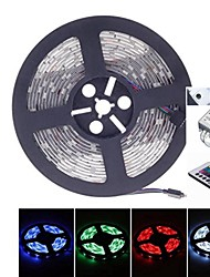 5M 38W 150LED 5050SMD DC12V IP68 Waterproof Strip Light + Remote Control RGB