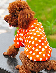 Hunde T-shirt Rot / Orange / Purpur / Rose Hundekleidung Winter Gepunktet