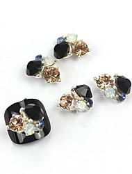 5шт 3d черный циркон сплав ногтей украшения ногтей ювелирные изделия