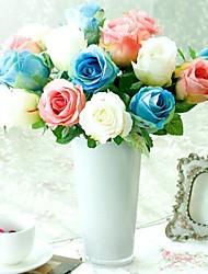 la seta artificiale di alta qualità, rose di stoffa set di 5