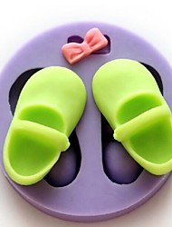 A Pair of Shoes Baking Fondant Cake Chocolate Candy Mold,L5.5cm*W5.5cm*H1.8cm