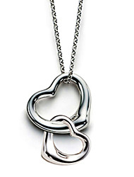 Вивиан моды двойные сердца сплошной цвет necklace_necklace: 45.72cm, pentand: 2 * 2.2 * 0.46cm 1.4 * 1.6 * 0.4cm
