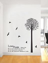 jiubai ™ etiqueta de la pared decoración del hogar árbol de amor etiqueta de la pared