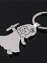 Angel Shap Metal Silver Keychain Toys