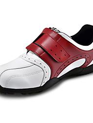pelle microfibra impermeabile rosso sneaker golf traspirante uomini pgm con nastro di nylon chiusura e fissaggio delle unghie