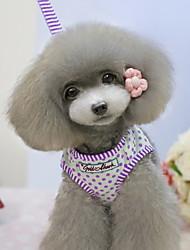 Dog Harness / Leash Polka dots Pink / Yellow / Purple Textile