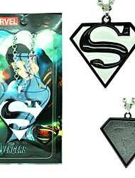 Superman Black Alloy Cosplay Necklace