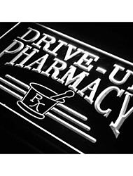 j940 Drive Up Pharmacy RX Drug Stores Neon Light Sign