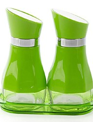 Fashionable Glass Colored Leak-proof Oilcans 2PCS
