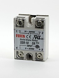 FOTEK Solid State Relay Single-phase SSR-10DA DC-AC 3-32V/24-380V 10A