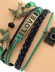Z&X®  Fashion The Bird Camera LOVE Multilayer Weaving Bracelet