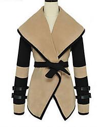 solapa victoria abrigo de tweed cuello de la mujer yaxy