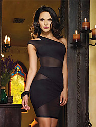 Monta Sexy Club Styles Dress With Shouler Mesh