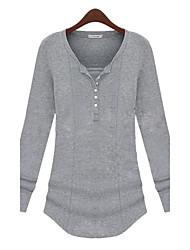 LIRONG Thin V-Neck Bottoming Shirt(Gray)