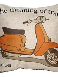 """createforlife® 18 """"retro biancheria di cotone del fumetto moto piazza cuscino decorativo"""