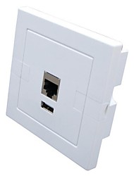 Bydigital CU-C100 PoE Wireless-N Wall Mount Access Point / In wall wireless Access Point / Hotel Wifi AP / USB Charger