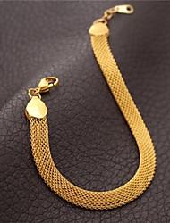 u7 18k banhado a ouro líquido cadeia pipoca 21 centímetros pulseira 5 milímetros